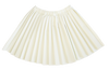 White Leather Pleated Skirt by Kipp