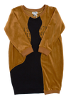 Ochre Velour Dress by Crew