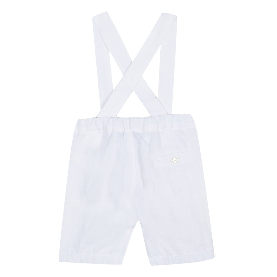 White Suspender Pant By Tartine et Chocolat