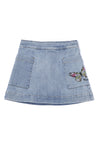 Butterfly Denim Wash Skirt by Trussardi