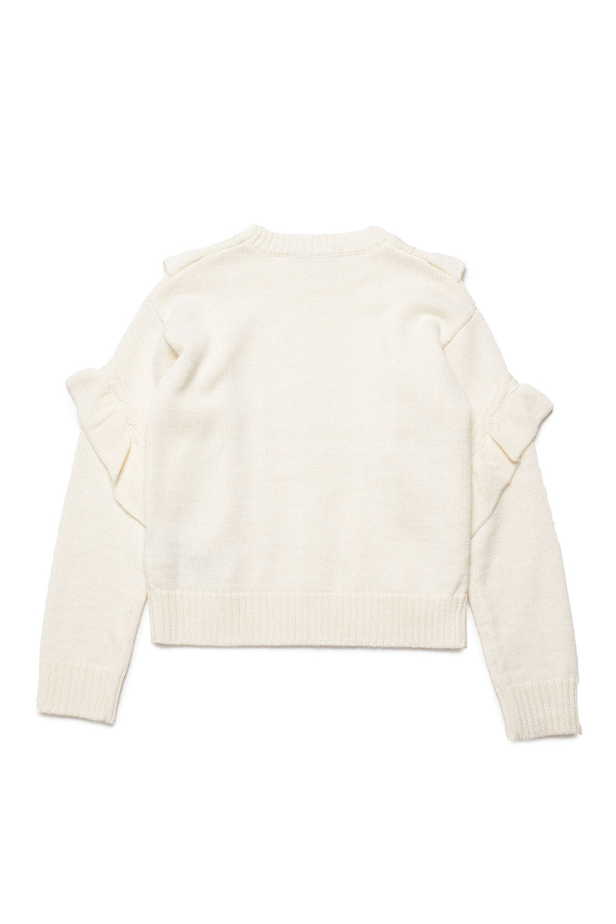Cable Knit Flutter SLeeve Sweater by Trussardi