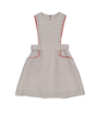 Pocket and Button Pinafore Dress by Carbon Soldier
