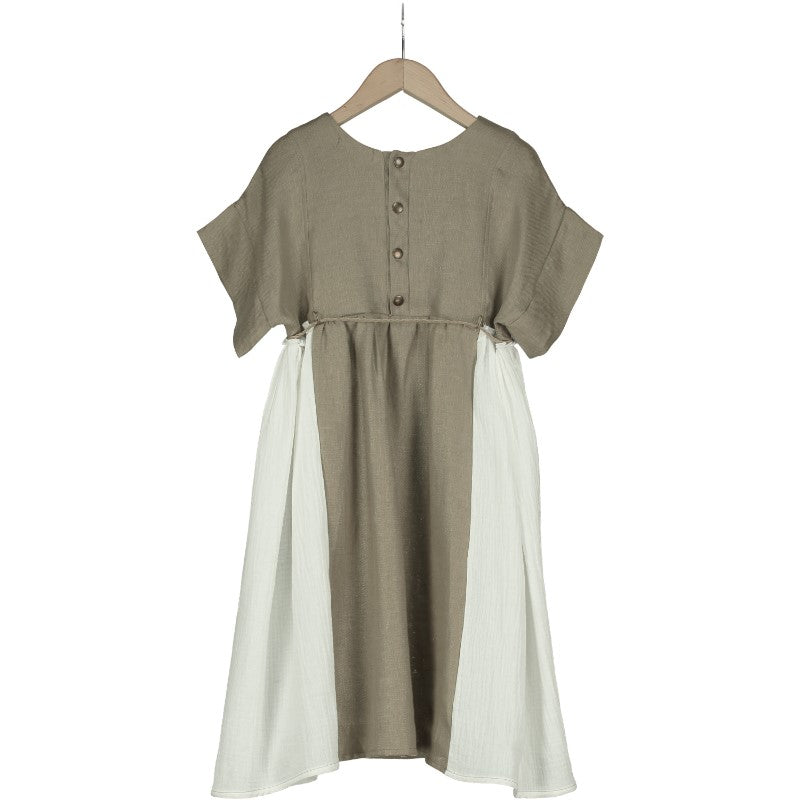 Verdi Natural Linen Dress by Belle Chiara