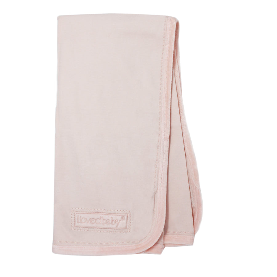 Blush Velveteen Blanket by L'ovedbaby