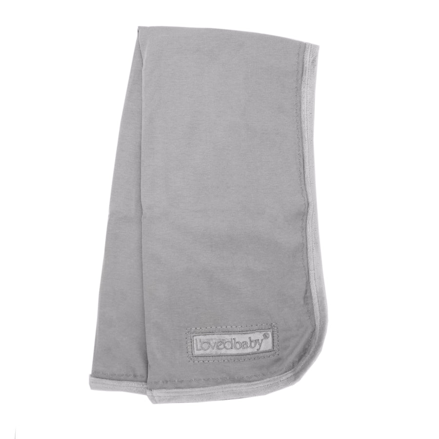Light Grey Velveteen Blanket by L'ovedbaby