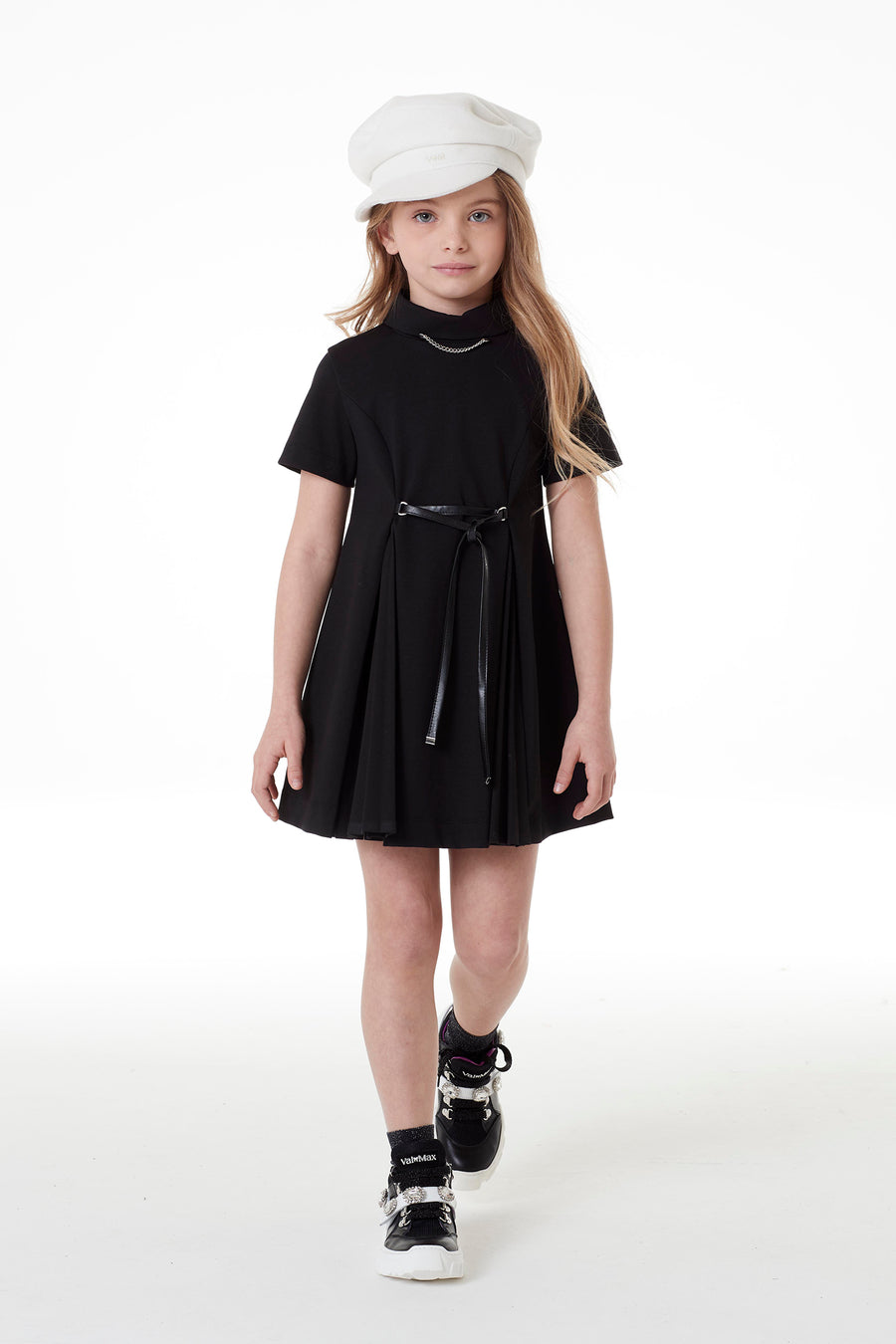 Black Collar Dress by Val Max