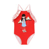 Girls Swimsuit with Miss Marc Illustration by Little Marc Jacob