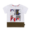 White Mr. Marc Baby Boy Illustrations Tee by Little Marc Jacob