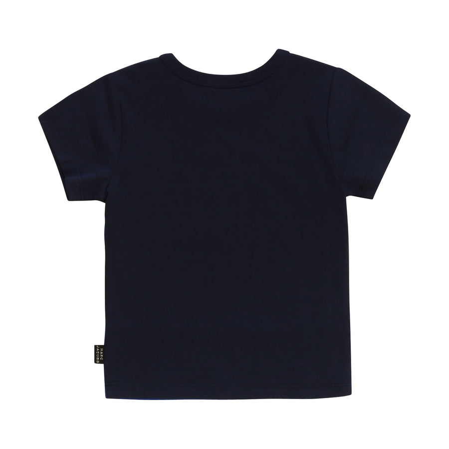 Navy Mr. Marc Baby Boy Illustrations Tee by Little Marc Jacob