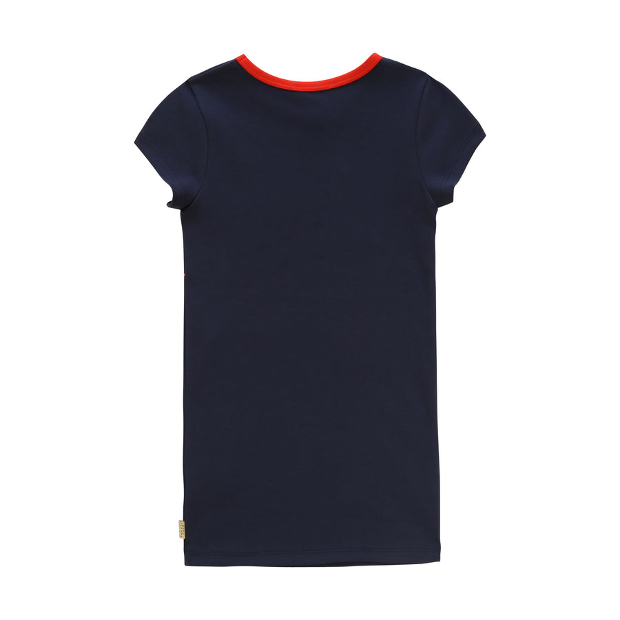 Navy Trompe Loeil Illustration Dress by Little Marc Jacob