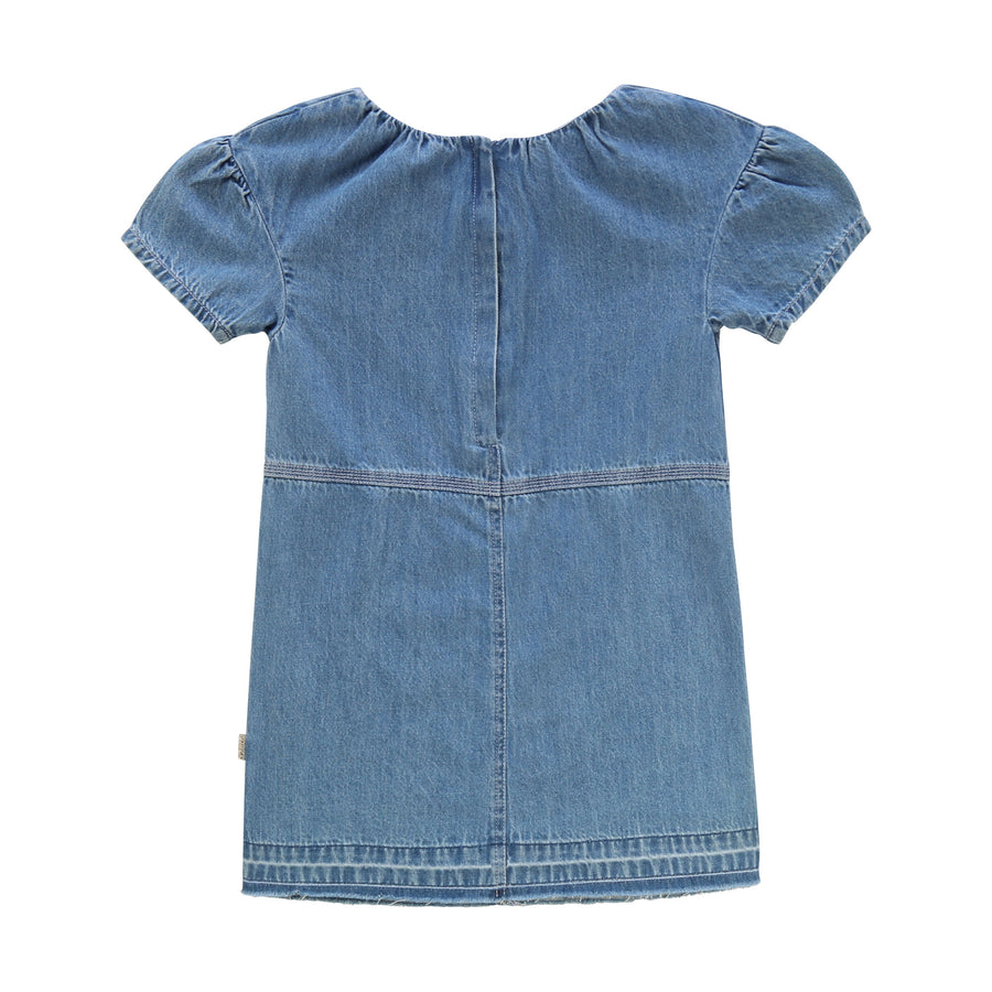 Denim Dress with Zipper Back Logo by Little Marc Jacob