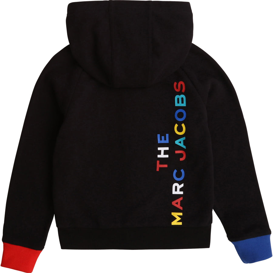 Black Zip Sweat Top with Logo by Little Marc Jacob