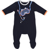 Blue Tromp L'oeil Footie by Little Marc Jacob