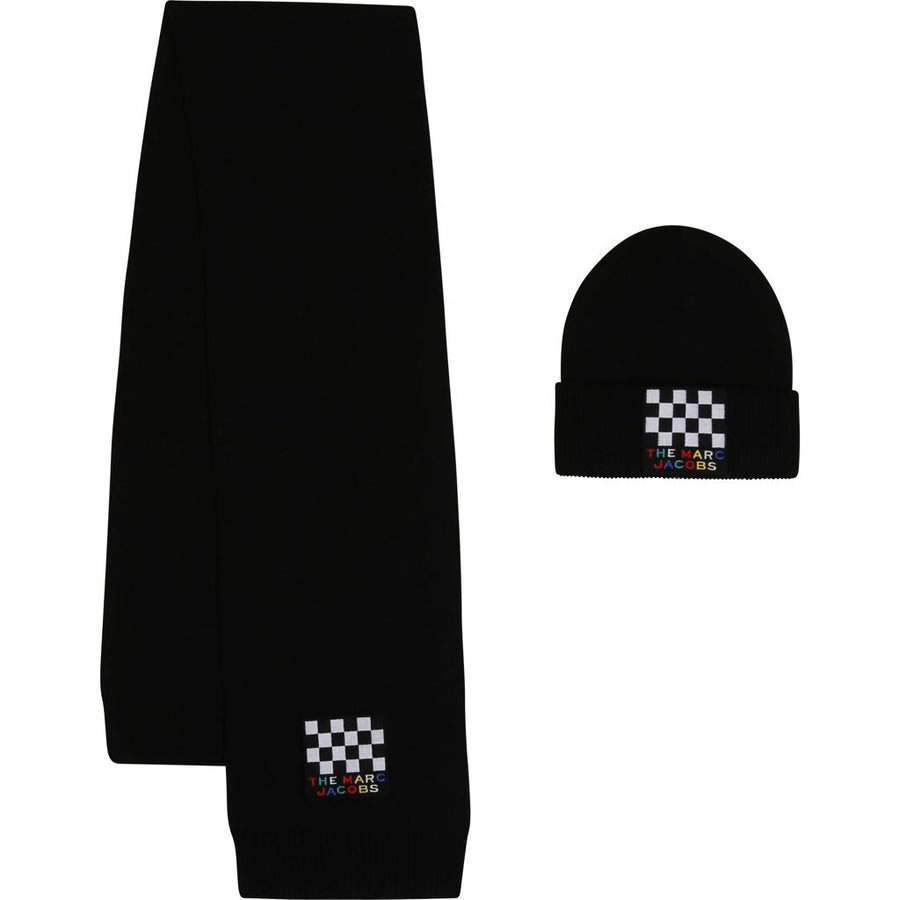 Logo Hat + Scarf Set by Little Marc Jacob