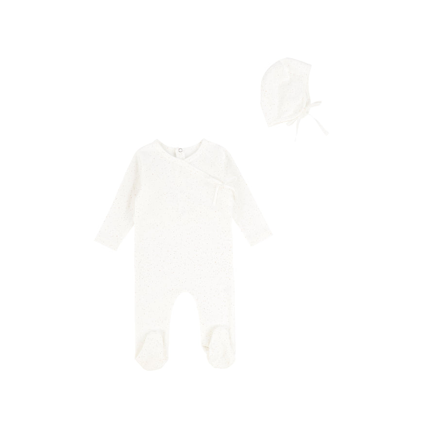 Camel Dust Wrap Footie by Bee and Dee