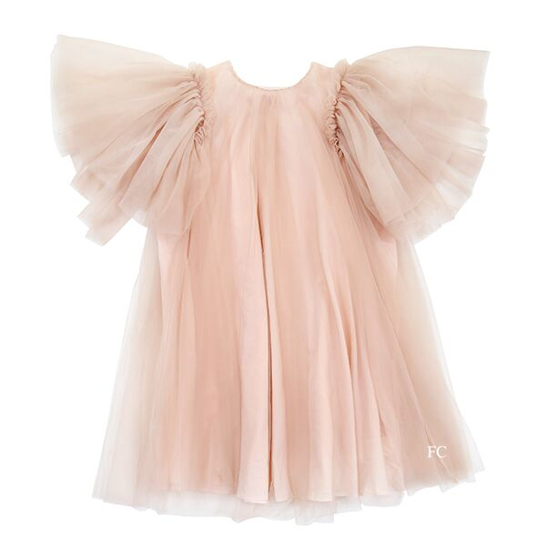 Pink Tulle Dress by JNBY