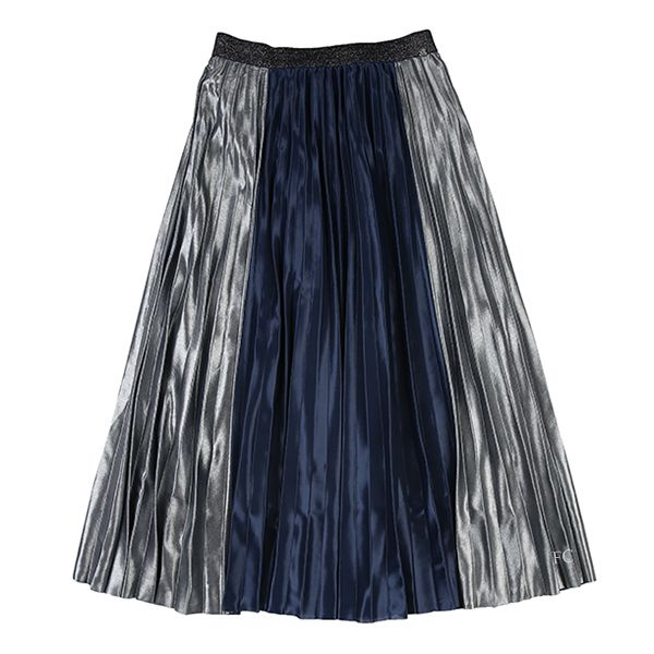 Colorblock Pleated Maxi Skirt By IKKS