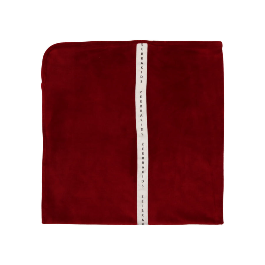 Celine Red Signature Velvet Blanket by Zeebra