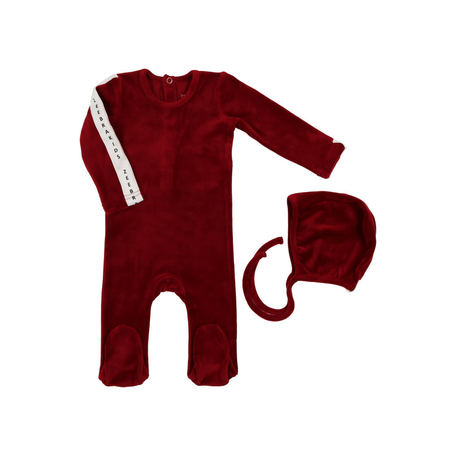 Celine Red Signature Velvet Babyset by Zeebra