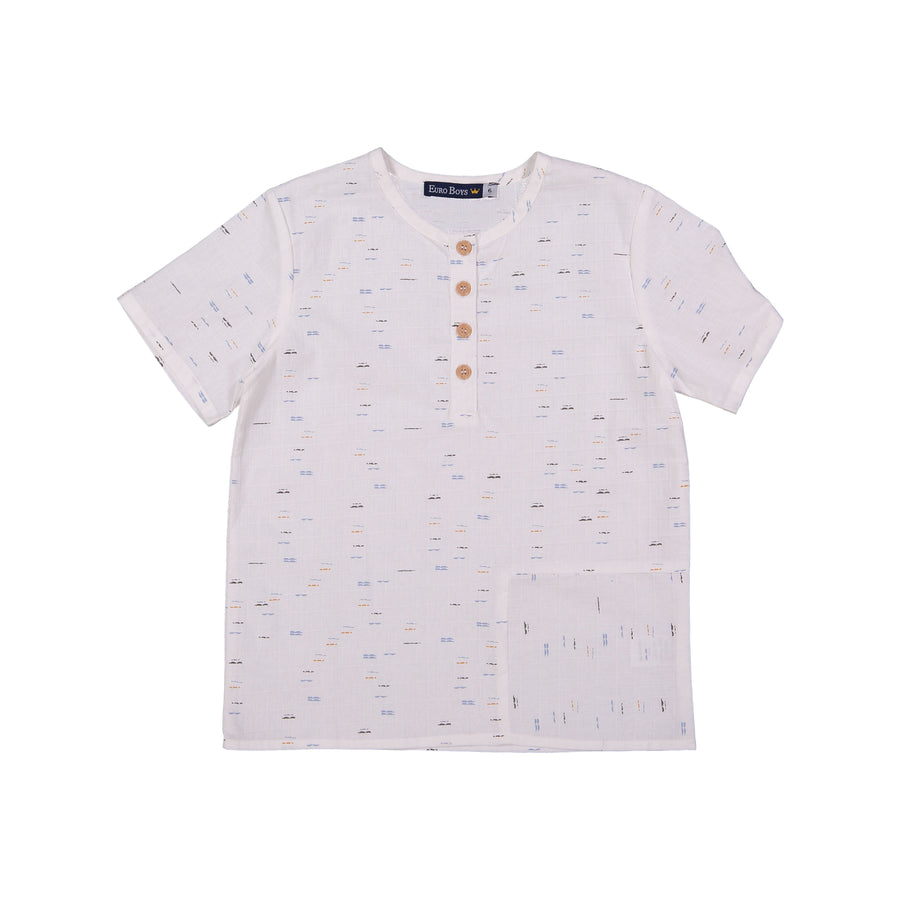 Opposite Direction Pocket Shirt by Euro Boys