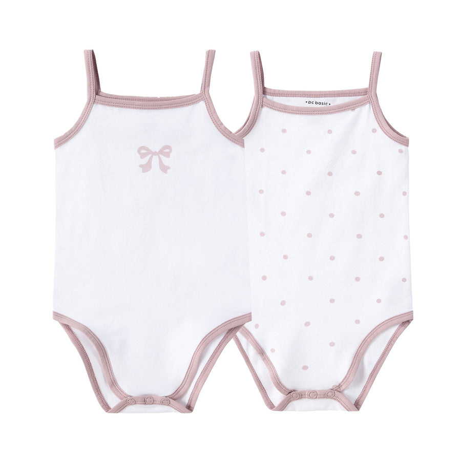 Bow & Polka Dot Onesies by Petit Clair
