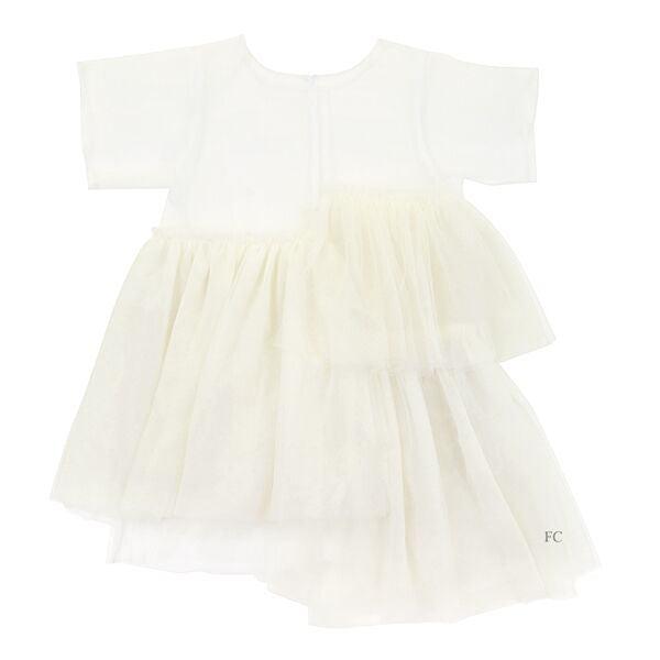 White Tulle Dress by JNBY