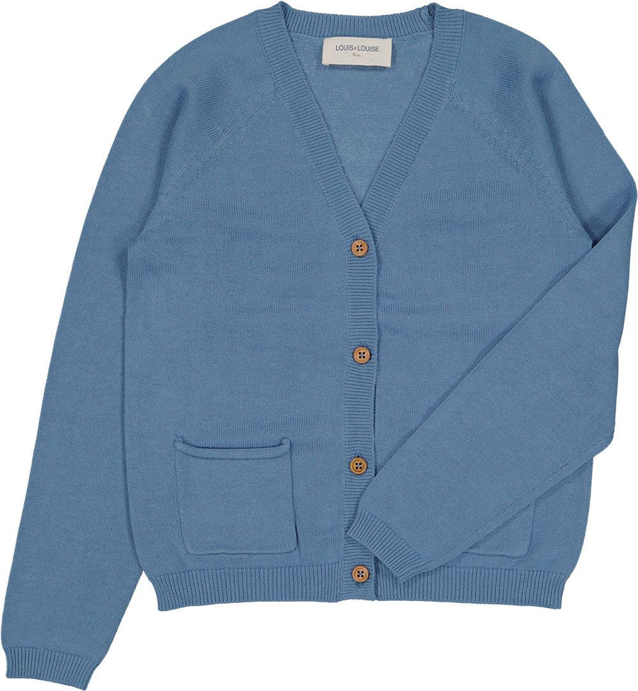 Hubert Blue Cardigan by Louis Louise
