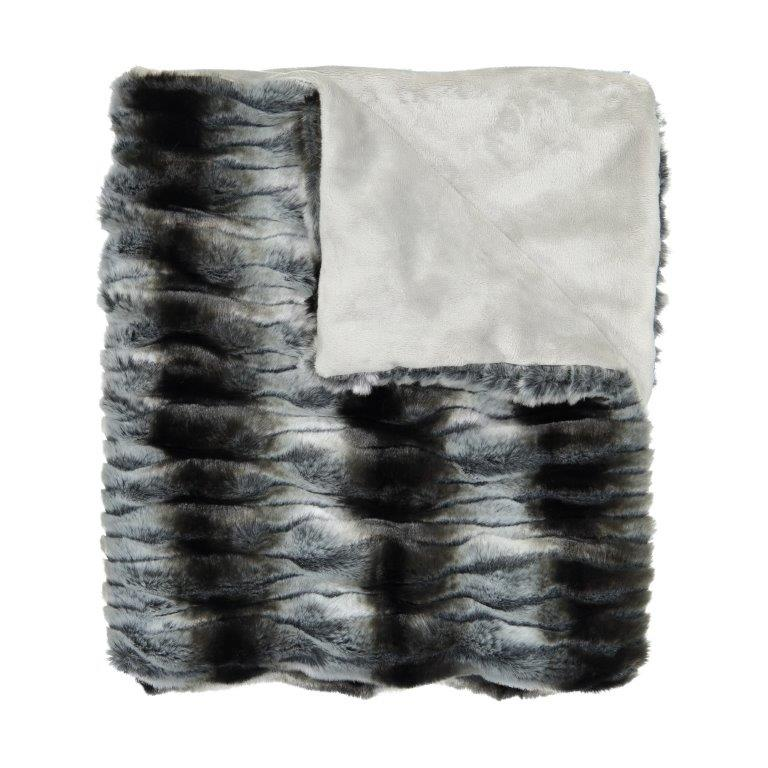 Shirred Heavy Fur Blanket by Peluche