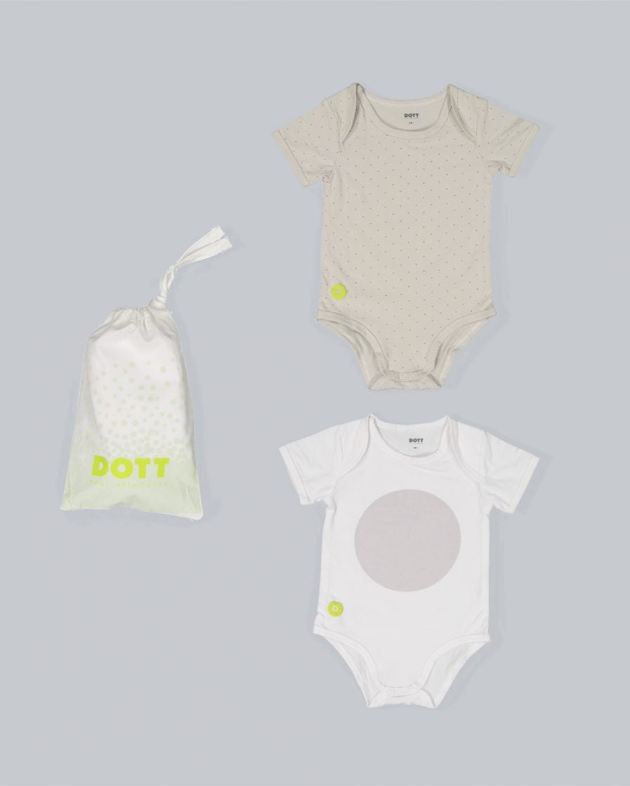 BABY BOY SHORT SLEEVE 2PC ONESIE SET by DOTT Child
