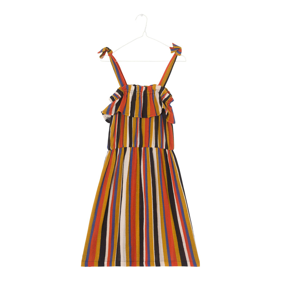 Rie Fig Stripe Dress by A Monday