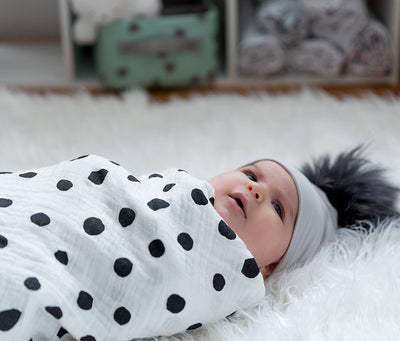 White Abstract Combo Muslin Swaddle Blankets by Ely's & Co.