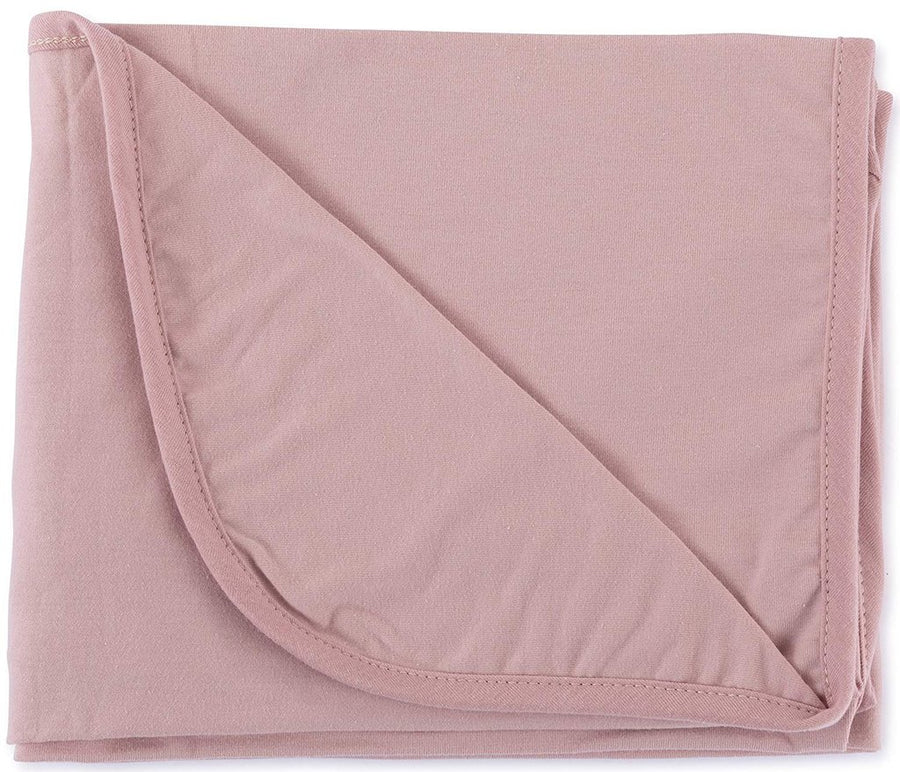 Mauve Swaddle Blanket and Beanie Gift Set by Ely's & Co.