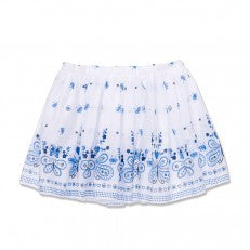 Blue Border Print Skirt By Marie Chantal
