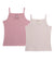 Girls 2pc Colored Ribbed Undershirts by Petit Clair