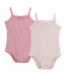 Baby 2pc Ribbed Strap Bodysuit with Bow by Petit Clair