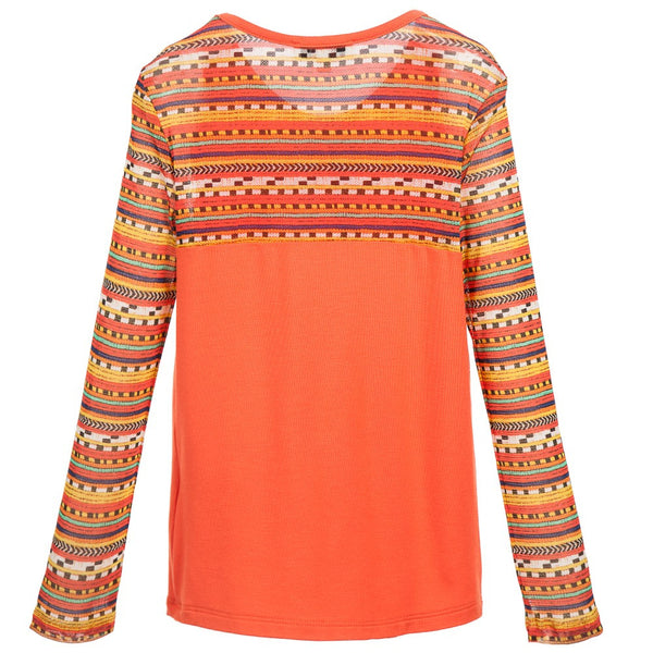 Mesh Tribal Print Top by Junior Gaultier