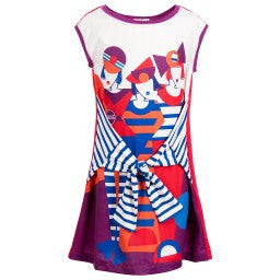 Drapeau Abstract Dress by Junior Gaultier