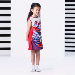 Drapeau Abstract Dress by Junior Gaultier - Flying Colors Baby