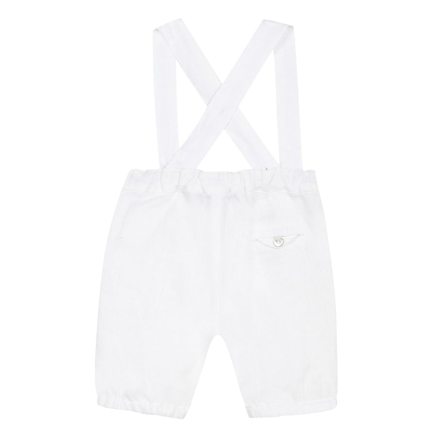 White Suspender Pants By Tartine et Chocolat