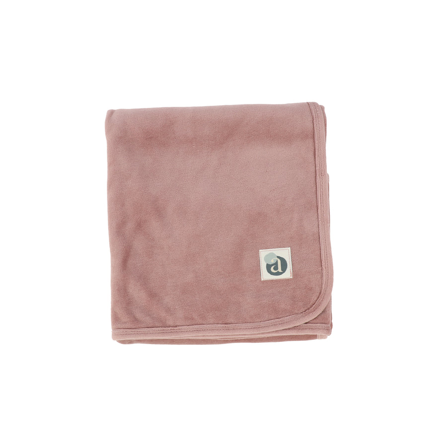 Blush Velour Blanket by Lil Leggs