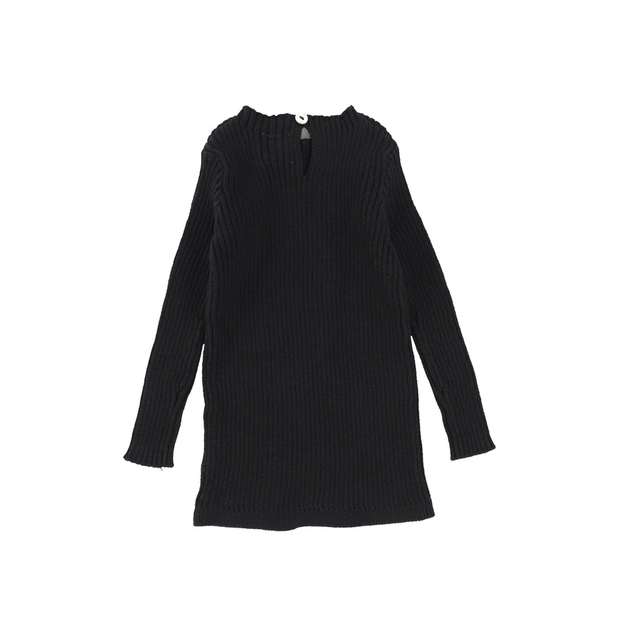 Black Long Sleeve Knit Sweater by Lil Leggs
