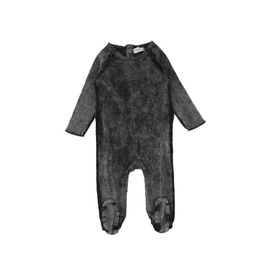 Black Wash Denim Footie by Lil Leggs