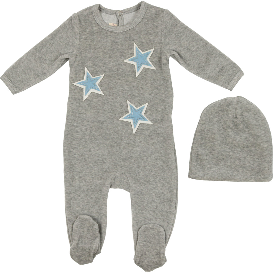 Star Patch Footie by Mon Tresor