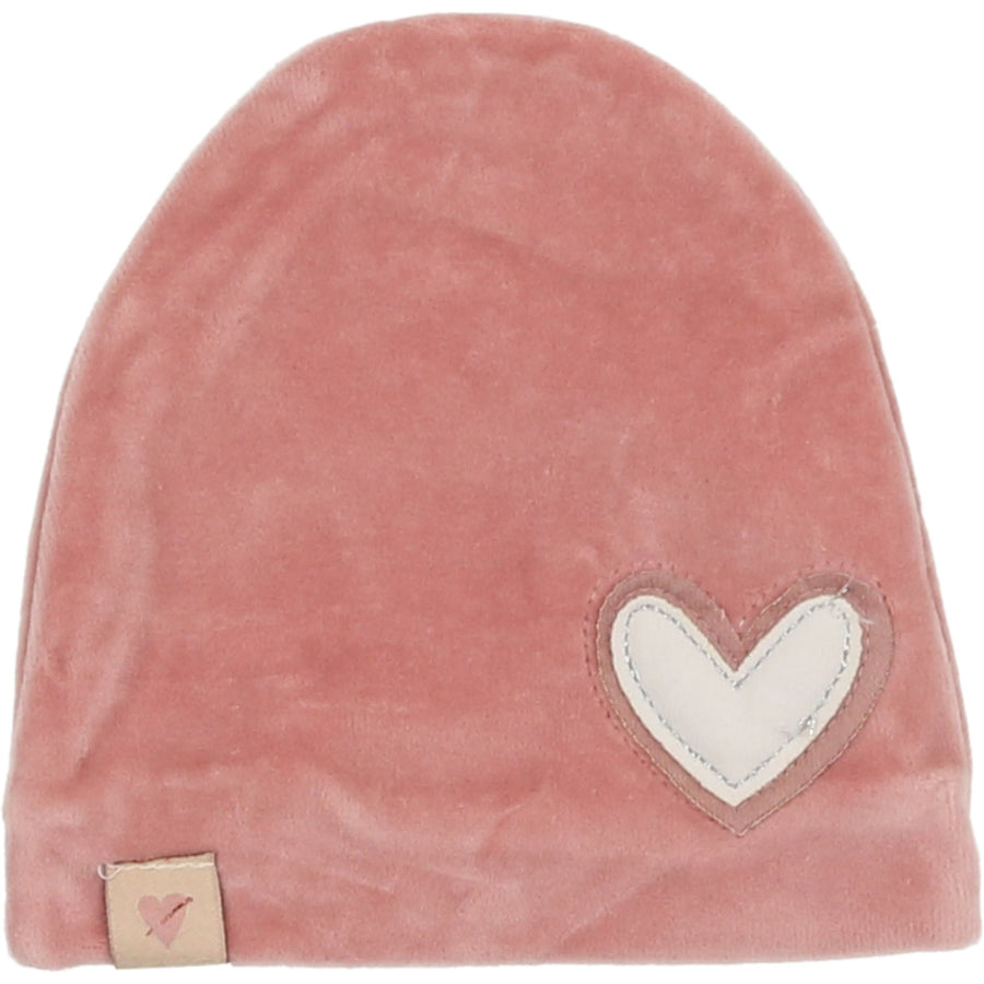 Heart Patch Hat by Mon Tresor