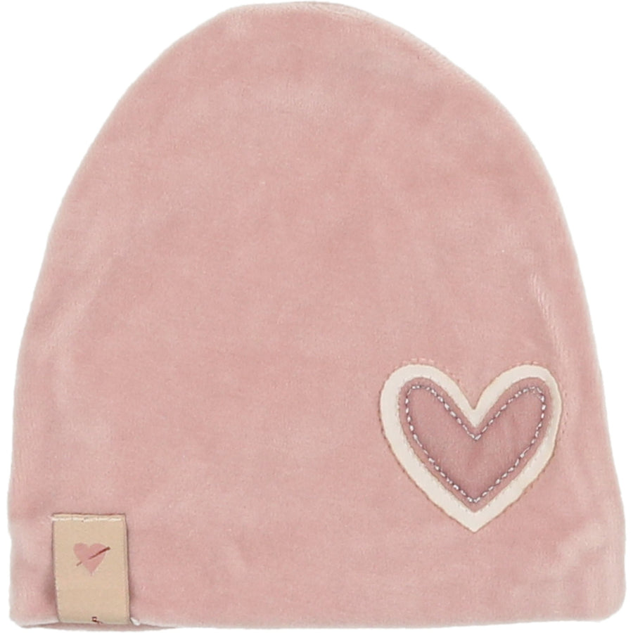 Rosewater Heart Patch Hat by Mon Tresor