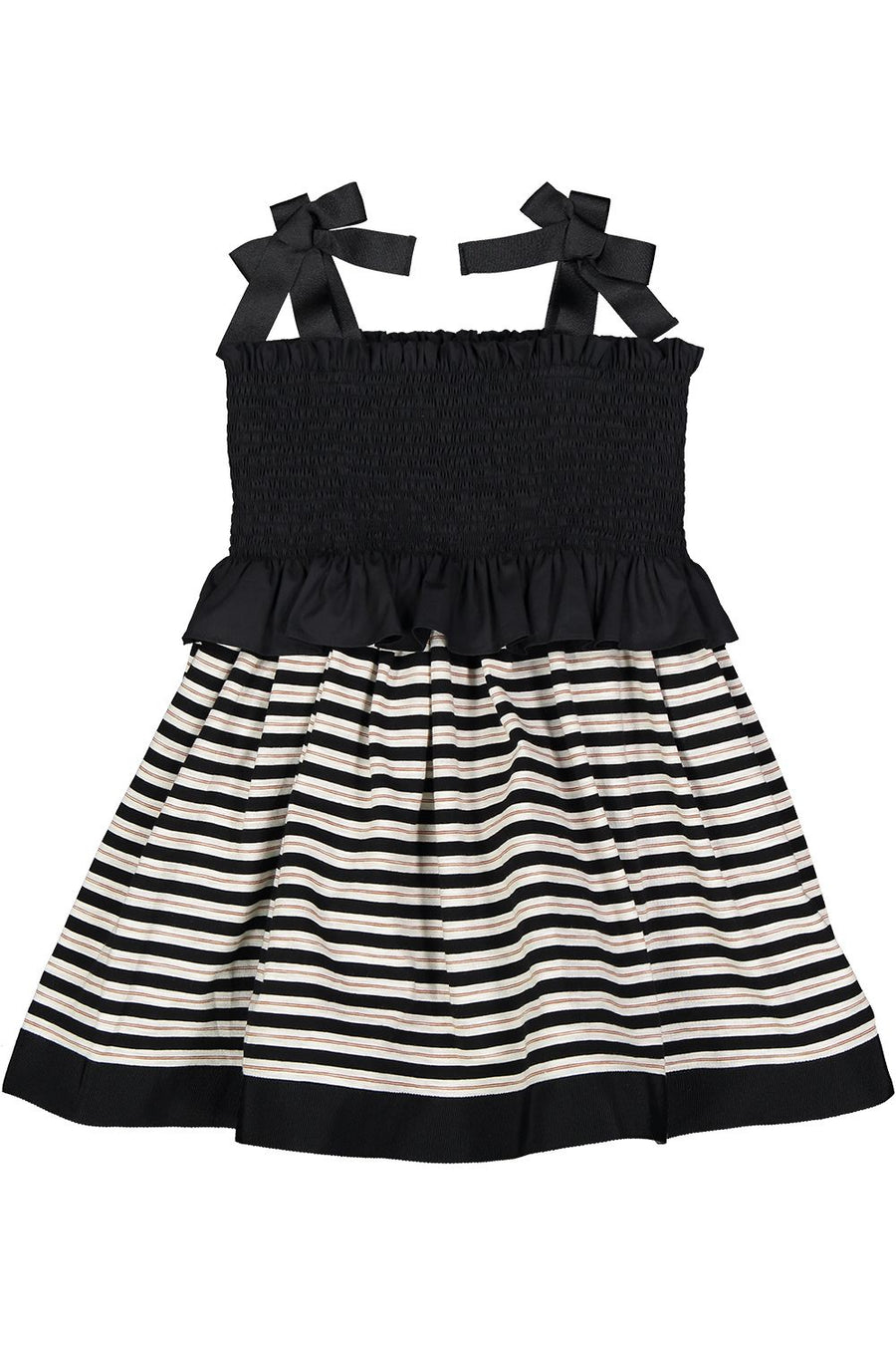 Black Striped Dress (Short Length) by Mimisol