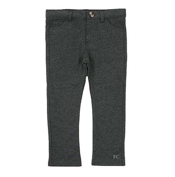 Charcoal Slim Knit Pants by Crew