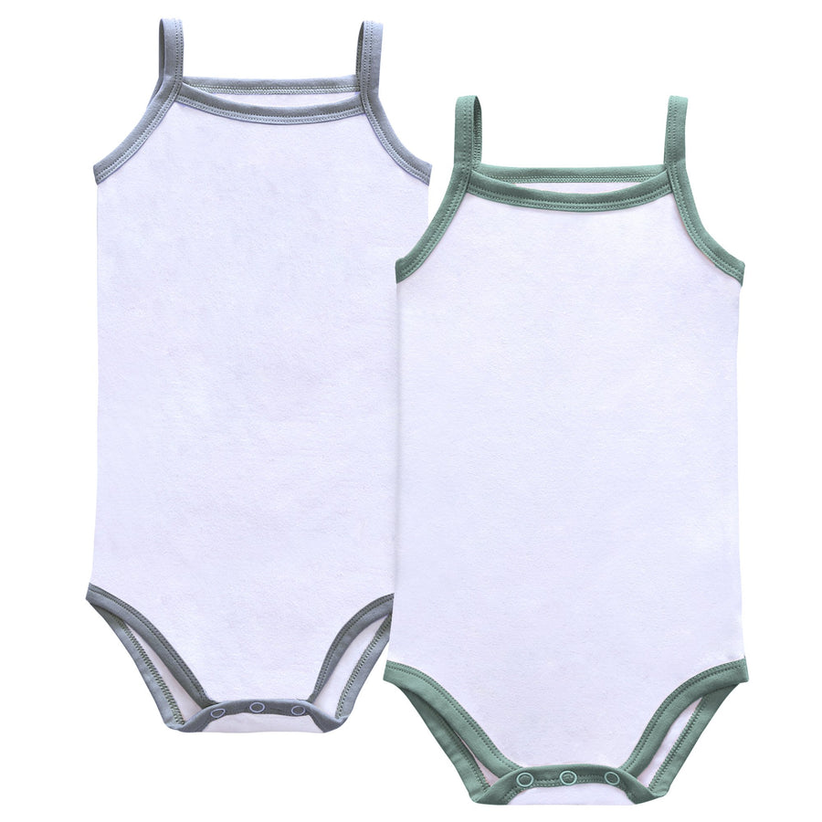 Baby Boy Basic Spaghetti Strap Bodysuit by Petit Clair