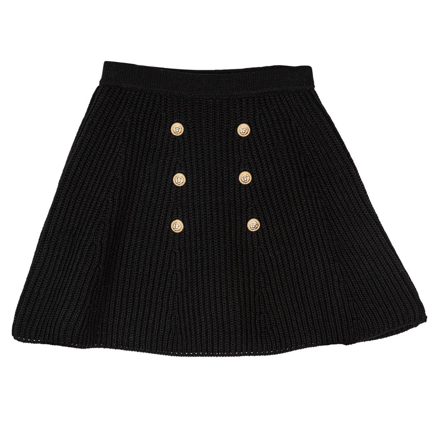 Black Thick Knit Skirt by Froo
