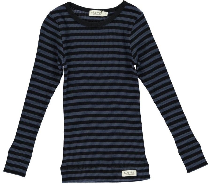 Black & Blue Stripe Tee by MarMar